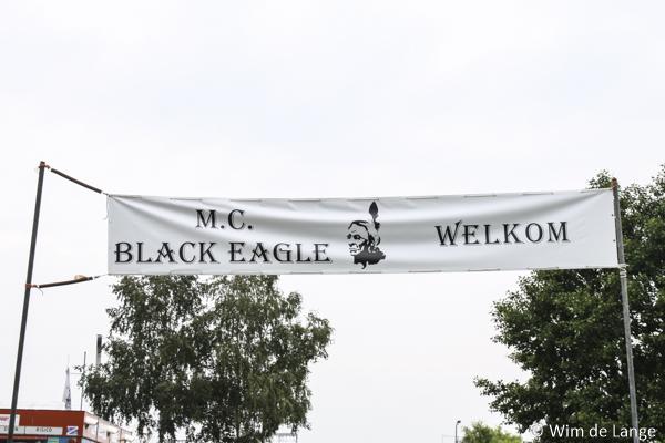 Spandoek MC Black Eagle 5 x 1 m.
