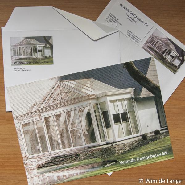 Voorblad offertes, enveloppen, visitekaartjes