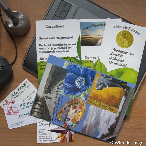 Flyers, visitekaartjes en stickers